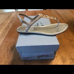 Prada suede sandal